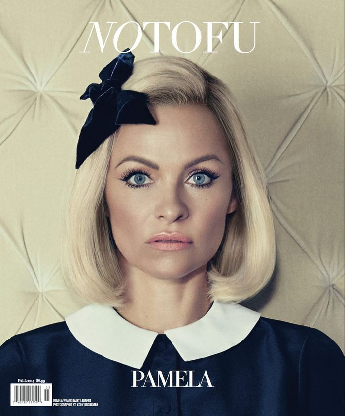 Pamela Anderson by Zoey Grossman for NO TOFU Fall 2014