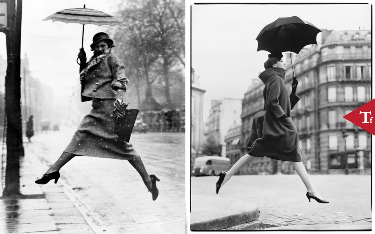 #ThrowbackFashion Carmen (Homage to Munkacsi), coat by @CardinPierre, Place Francois-Premier, Paris by Richard @Avedon via @HarpersBazaarUS, September 1957