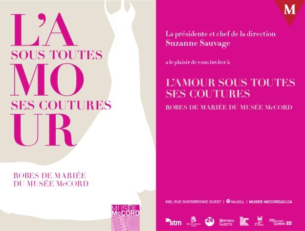 #ModeMTL Exposition L'amour sous toutes ses coutures au Musée McCord