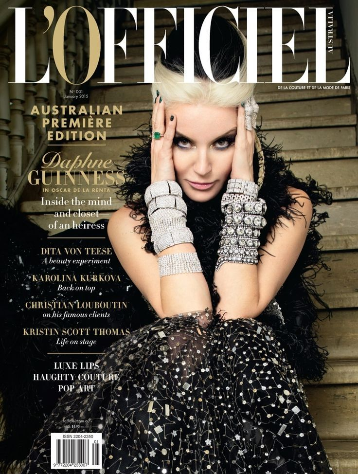 Daphne Guinness @TheRealDaphne by Peter Coulson @_petercoulson for L'Officiel Australia @LofficielAU January 2015