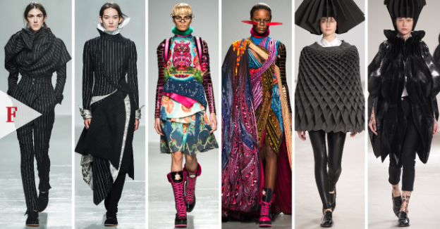#FashionWeek-3-Uppermosts-Womenwears-Fall-2015-Paris-@FFCouture-#pfw-ft.-Aganovich-@BrookeAganovich,-Manish-Arora-@im_manisharora,-Junya-Watanabe