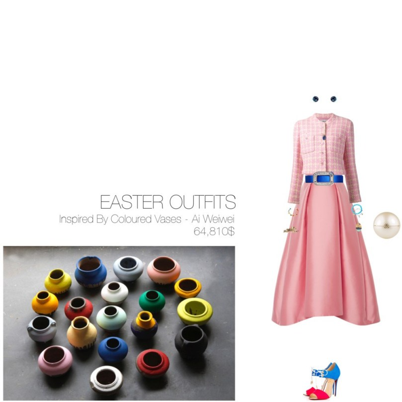 64,810$ Easter #MostExpensiveOutfit Inspired by Coloured Vases, 2012 – Ai Weiwei @aiww