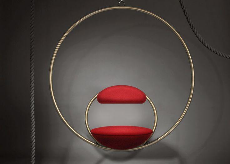 Hanging Hoop Chair, 2015 Lee Broom @LeeBroom via @Dezeen for #form #material #color