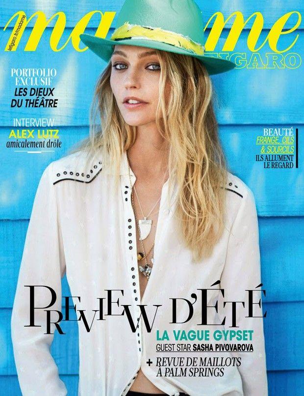 Sasha Pivovarova @pivovarovasasha by Fred Meylan @MeylanFred for Madame Figaro @Madamefigaro 2015