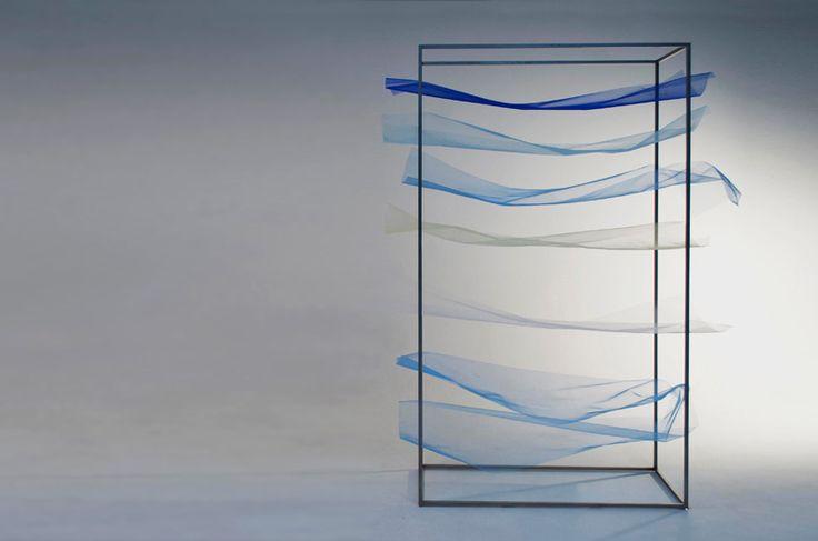 Tone Shelf, 2015 by Mizuki Odashiro www.musabi.ac.jp via @designboom for #material #texture #color