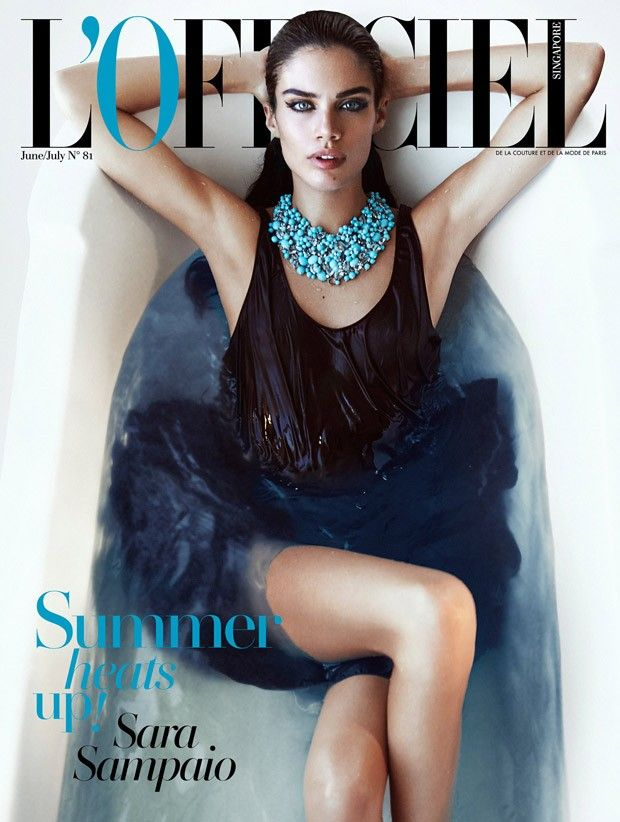 Sara Sampaio @Sara Sampaio by Jack Waterlot @JacksPhotograph for L'Officiel Singapore @Lofficielsingapore June 2015