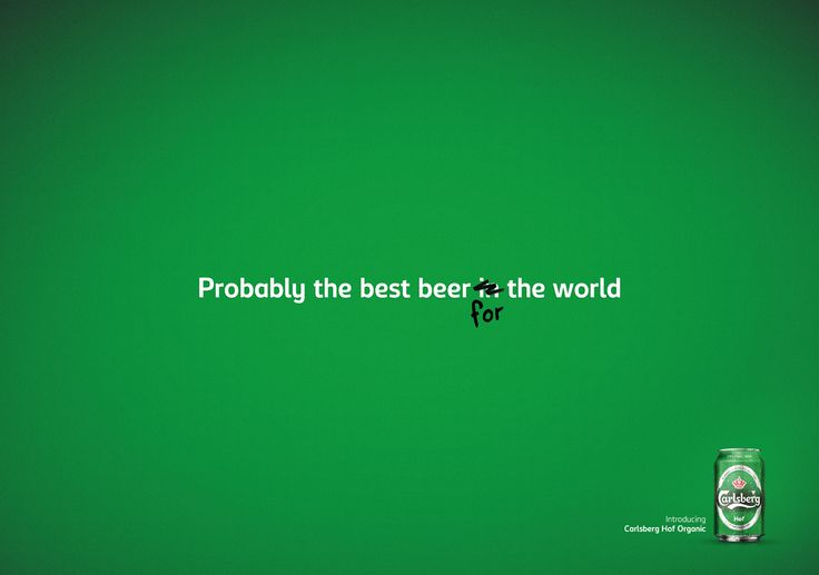 Carlsberg @Carlsberg- Probably the best beer for the world by M&C Saatchi @mcsaatchisthlm