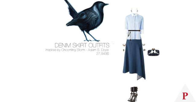 27,949$-Denim-Skirt-#MostExpensiveOutfit-Inspired-by-Oncoming-Storm,-2010-by-Adam-S.-Doyle-@AdamSDoyle-via-@Fubiz-by-duccnguyen-featuring-animal-wall-art