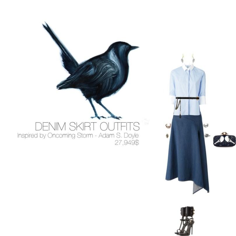 27,949$ Denim Skirt #MostExpensiveOutfit Inspired by Oncoming Storm, 2010 by Adam S. Doyle @AdamSDoyle via @Fubiz