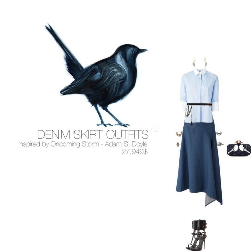 27,949$ Denim Skirt #MostExpensiveOutfit Inspired by Oncoming Storm, 2010 by Adam S. Doyle @AdamSDoyle via @Fubiz
