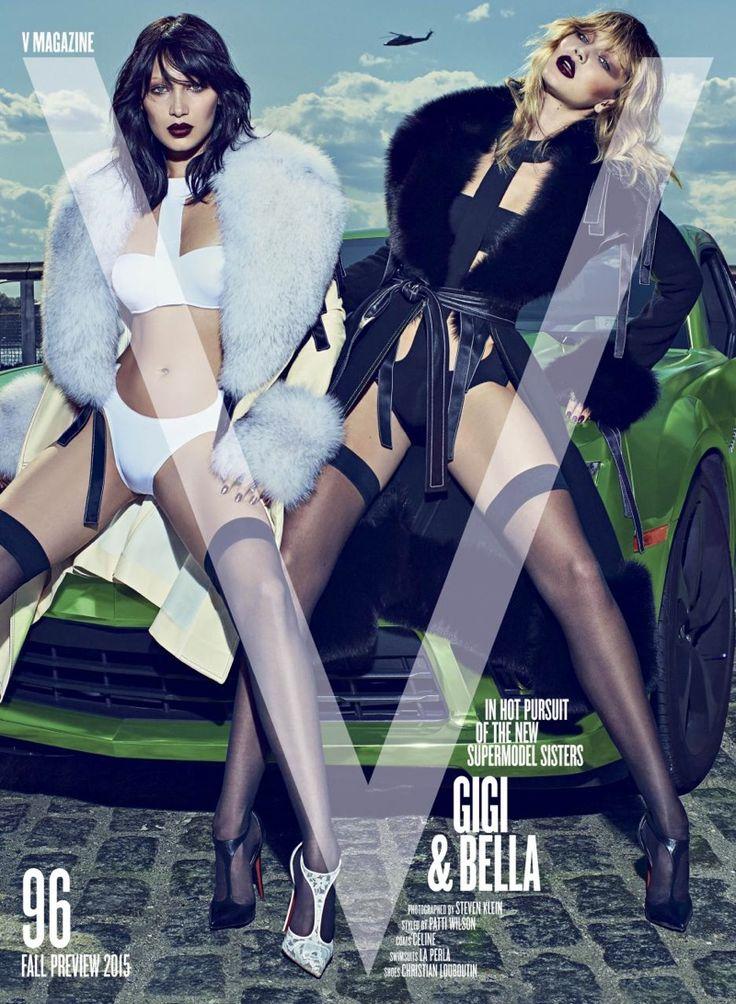 Bella Hadid @Bella Hadid, Gigi Hadid @GiGi Hadid by Steven Klein @SKstudly for V @VMagazine Fall 2015