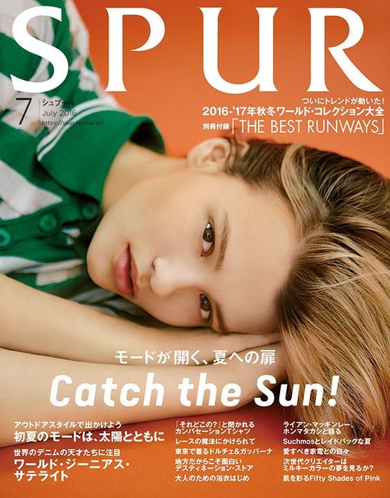 Cayley King @IMGModels by X for Spur Japan @SPUR(シュプール) July 2016 #color