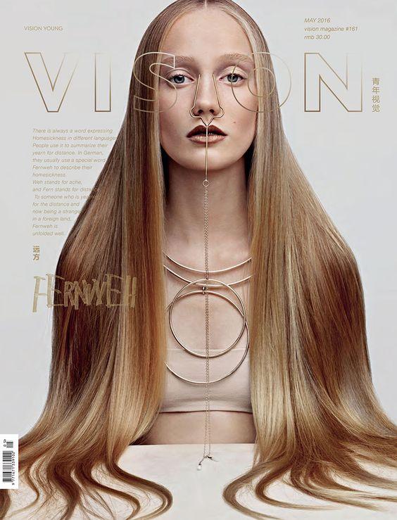 Elizabeth Yeoman @ElizbethYeoman by Adi Admoni @AdiAdmoni for Vision China youthvision.cn May 2016 #composition #color #hair