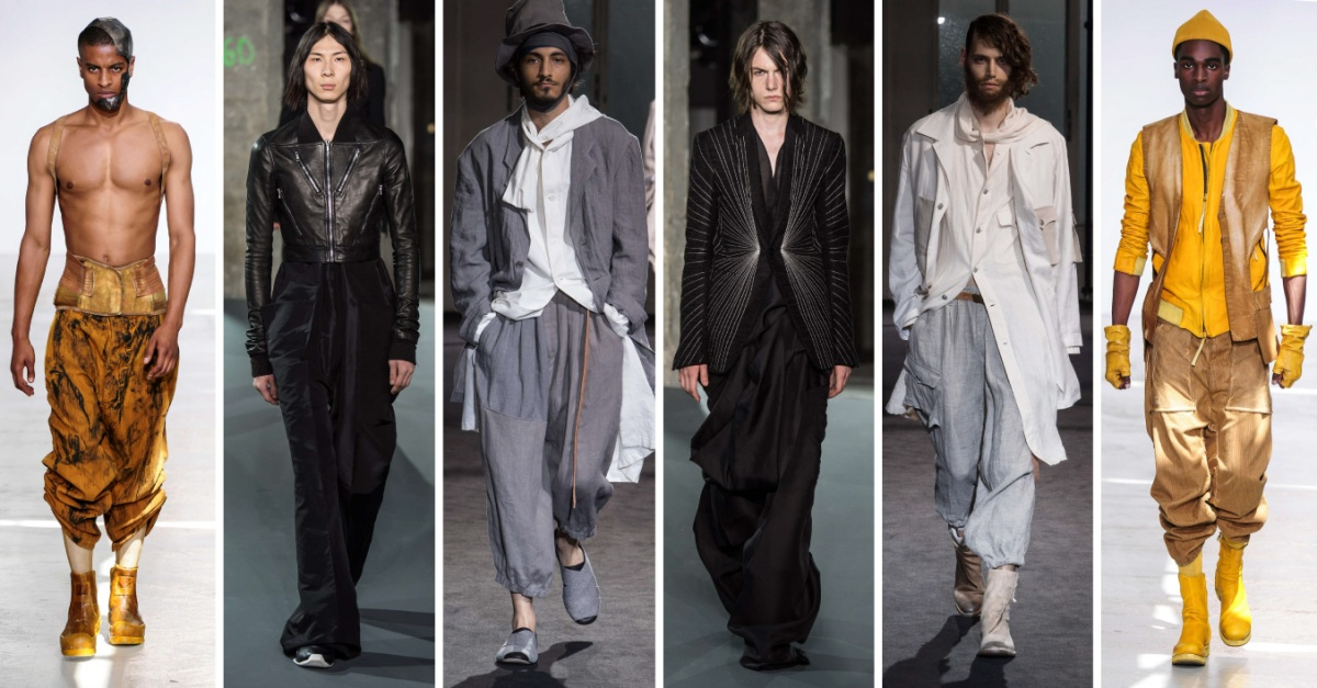#FashionWeek 3 Uppermosts Menswear Spring 2017 Paris #PFW ft. Rick Owens, Yohji Yamamoto and Boris Bidjan Saberi
