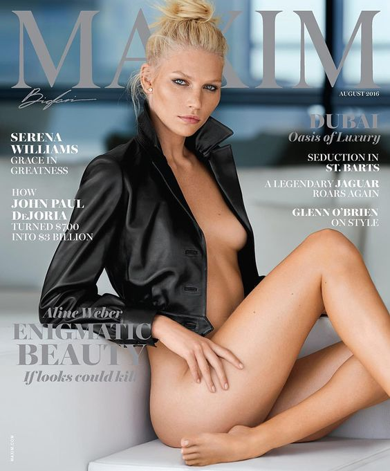 Aline Weber @alineweber_real by Gilles Bensimon @Walter Schupfer for Maxim @MaximMag August 2016 #composition #motion